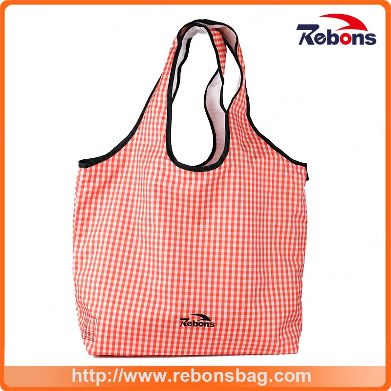 Foldable and Portable Fashion Soft Pink Grid Stripe Lady