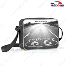 Trendy Printed PU Sling Shoulder Bags for Sports, Hiking