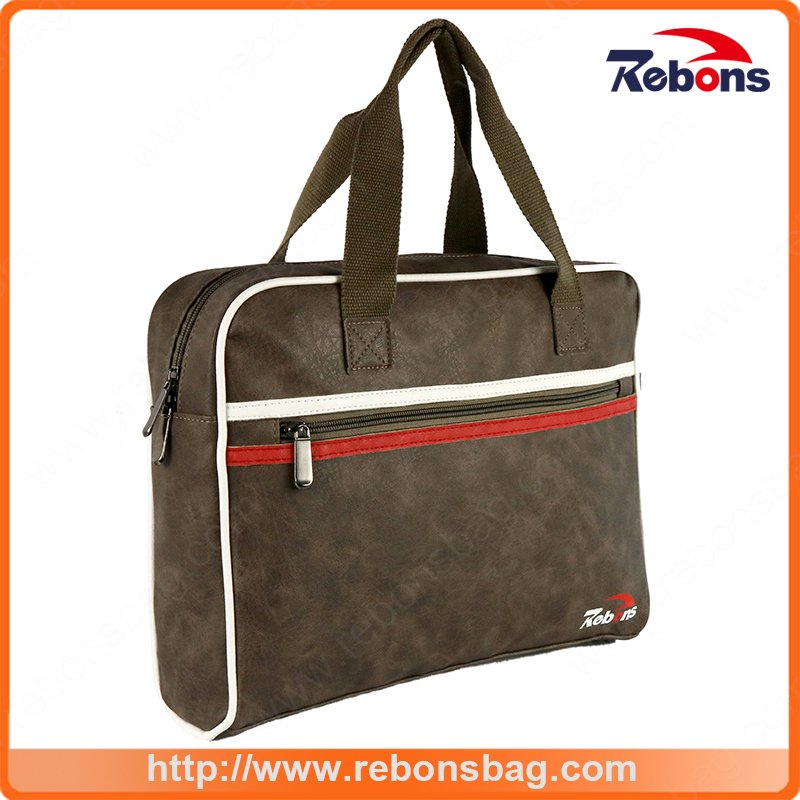 New Style PU Leather Business Laptop Single Shoulder Handbag for Men