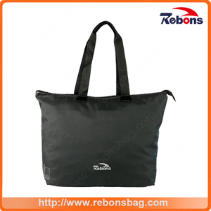 Simple Design Black Men Tote Bag for Shopping Camping and Work
