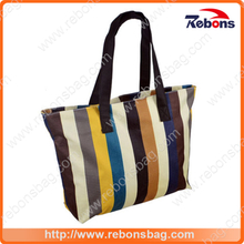 Vintage Strips Large Capacity Handbags for Shopping