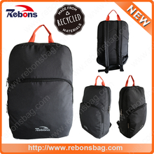 Waterproof RPET laptop travel bag backpack made from recycled bottles