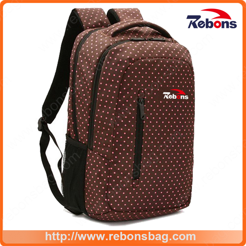 New Items Spotted Allover Printing Pattern Cute Laptop Bag with Two Big Main Zipper Compartments to Packing