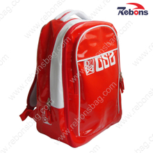 Red Glossy Shiny Waterproof PVC Leisure Bag Backpack