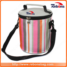 High Quality OEM Picnic Bag Lightweight Rainbow Pattern Fresh Keeping Cooler Bag for Traveling
