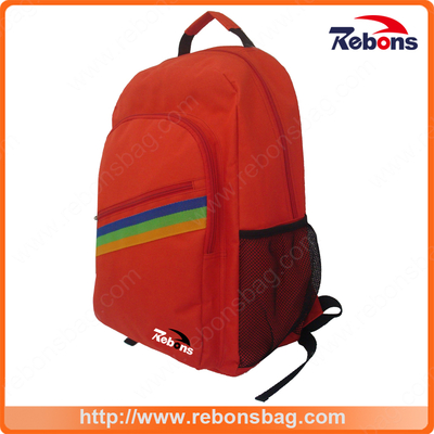 High End Ergonomic Custom Soccer Mesh Pocket Backpack with Rainbow Pattern