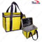 Yellow Plain Aluminium Foil Insulated Ice Cooler Bag