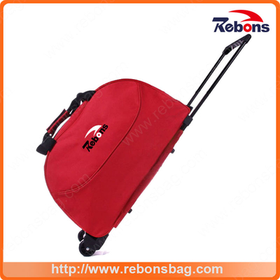 Best Sale Artist Colourful Travel Trolley Luggage Bag with One Big Main Zipper Compartment