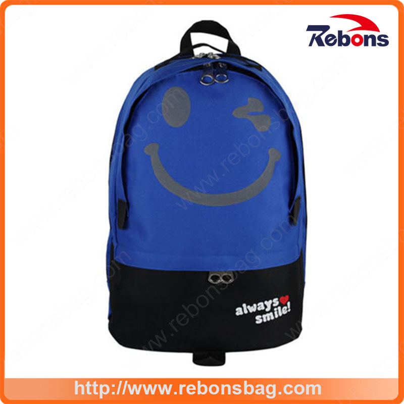 Preppy Handy Lightweight Backpack with Big Smile Face