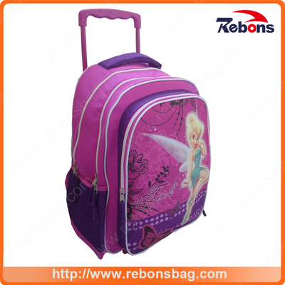 Flower Fairy Image Kids Latest School Backpack Waterproof School Bags for Girls